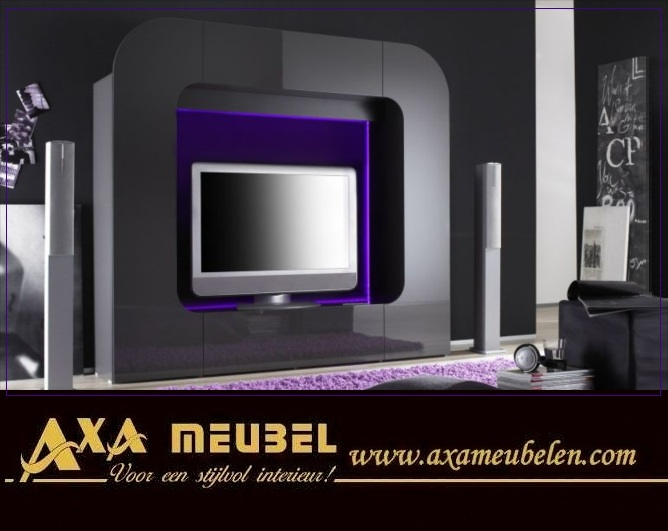 g nstige italienische hochglanz wohnwand axa m bel. Black Bedroom Furniture Sets. Home Design Ideas