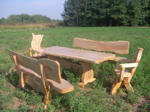 Massivholzmöbel für Esszimmer Terrasse in Sopron  Möbel und ...