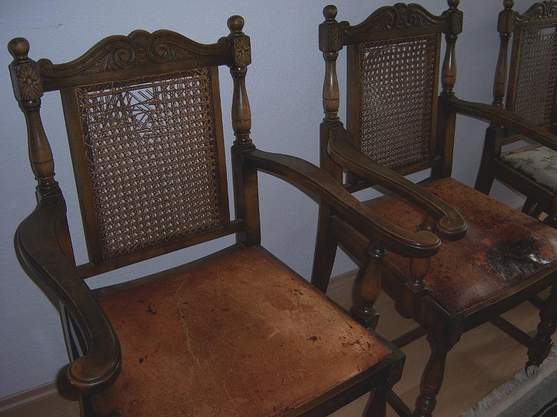 4 Antike Gründerzeit   Stühle Esszimmer Speisezimmer Lounge