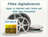 Filme Digitalisieren: Super 8, Normal 8, 16mm-Filme, Videos und Dias auf DVD ode
