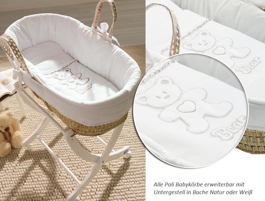 Babykorb mit gestell babykörbe bärenherz in verschiedenen farben in