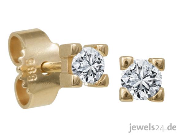 Diamantring weißgold günstig  Brillante Liebeserklärung Solitaire Diamantring Brillant Weißgold ...