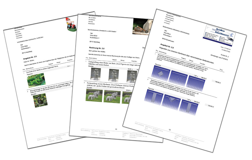 Angebots Und Rechnungsprogramm Optional Mit Bildern Für