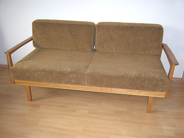 Kultige 60er jahre knoll antimott schlafcouch daybed sofa for Sofa 60er jahre